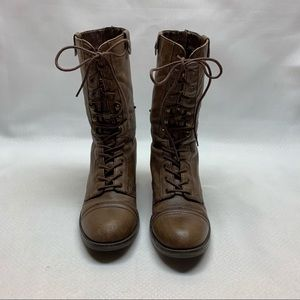 Steve Madden Shoes - Steve Madden Lace-Up/Fold-over Combat Style Boots